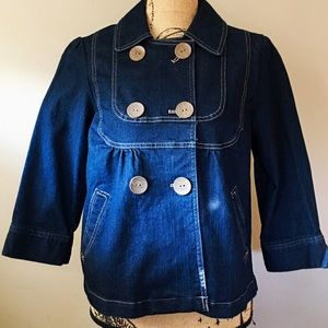 Sonoma Double Breasted Denim Jacket New W/Out Tags